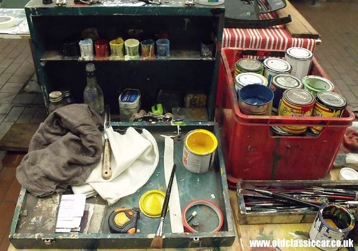 A signwriter's paint box